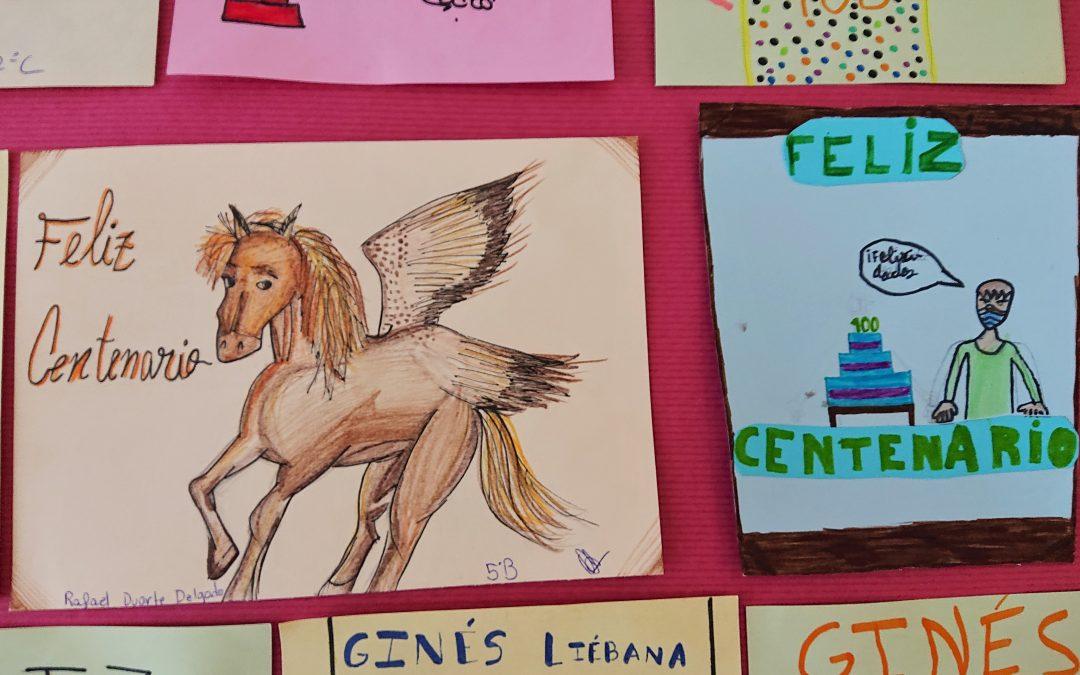 Centenario de Ginés Liébana   Exposición de tarjetas de felicitación a Ginés Liébana con motivo de su centenario 1