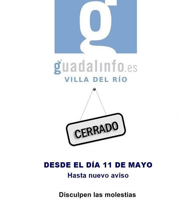 Cierre temporal del Centro Guadalinfo Villa del Río 1