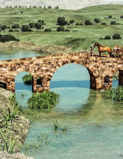 El puente romano se sitúa en el límite entre las provincias de Córdoba y Jaén, por lo que se llama Puerta de Córdoba