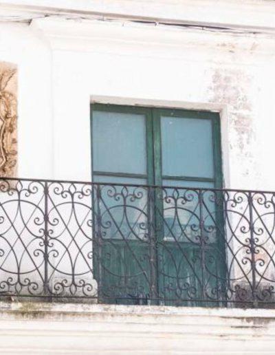 Casa de los Criado de Sotomayor. El jardín estaba formado por dos patios de diferentes alturas. Presentaban un corredor