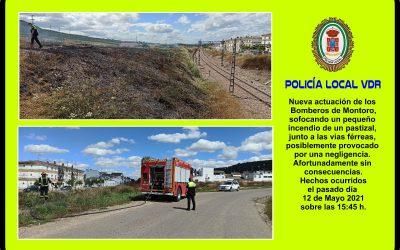 Policía Local | Sofocado un pequeño incendio junto a las vías férreas