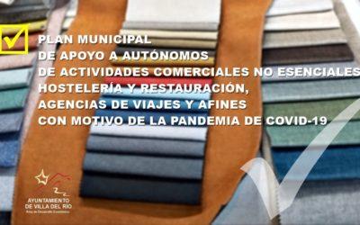 PLAN MUNICIPAL DE APOYO A AUTÓNOMOS DE ACTIVIDADES COMERCIALES NO ESENCIALES, HOSTELERÍA Y RESTAURACIÓN, AGENCIAS DE VIAJES Y AFINES CON MOTIVO DE LA PANDEMIA DE COVID-19